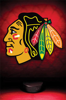 Chicago Blackhawks NHL Hockey Official Logo Poster - Costacos Sports