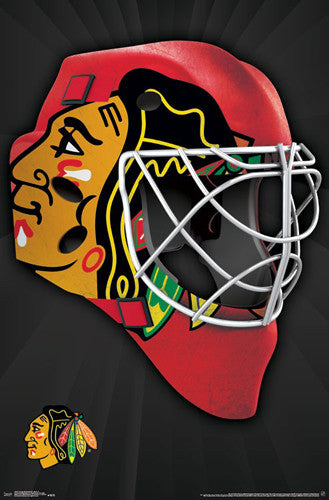 "Chicago Blackhawks ""Mask"" NHL Hockey Official Team Logo Theme Wall POSTER - Trends 2016"