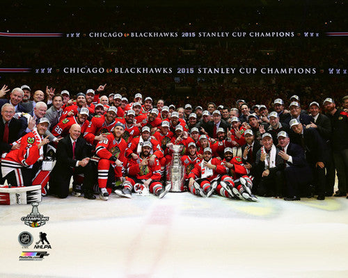 "Chicago Blackhawks 2015 Stanley Cup ""Celebration On Ice"" Premium Poster Print - Photofile Inc."
