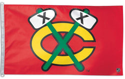 "Chicago Blackhawks ""Tomahawks"" Classic Alternate Logo Official NHL 3'x5' Flag - Wincraft"