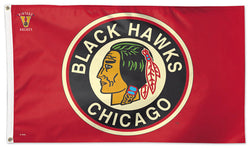 Chicago Blackhawks Vintage 1937-55 Style NHL Deluxe-Edition 3'x5' Flag - Wincraft Inc.