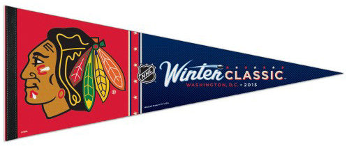 Chicago Blackhawks 2015 Winter Classic Premium Felt Collector's Pennant - Wincraft