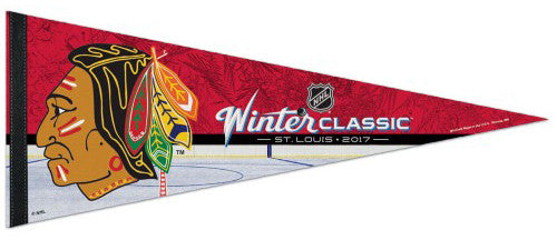 Chicago Blackhawks Winter Classic 2017 (1957-65 Logo) Premium Felt Commemorative Pennant - Wincraft