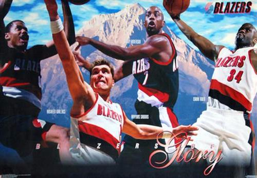 "Portland Trail Blazers ""Blazers of Glory"" (1996-97) Poster - Costacos Brothers Inc."