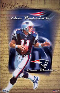 "Drew Bledsoe ""The Patriot"" New England Patriots Poster - Starline 2001"