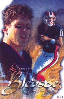"Drew Bledsoe ""Buffalo Proud"" Buffalo Bills Poster - Starline 2002"