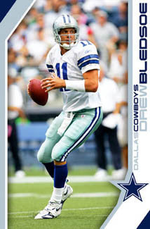 "Drew Bledsoe ""Lone Star Action"" Dallas Cowboys Poster (2005) - Costacos Sports"