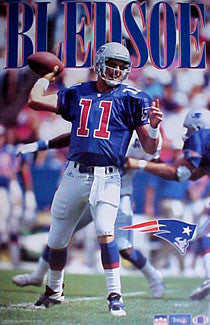 "Drew Bledsoe ""Rookie Star"" New England Patriots Poster - Starline 1993"