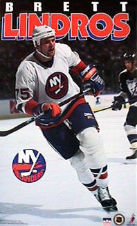 "Brett Lindros ""Action"" New York Islanders NHL Action Poster - Starline 1995"