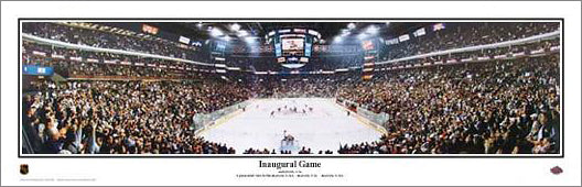 Columbus Blue Jackets Inaugural Game (2000) Panoramic Poster Print - Everlasting Images