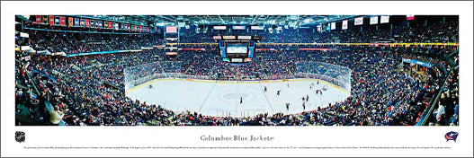 Columbus Blue Jackets NHL Game Night Panorama - Blakeway Worldwide