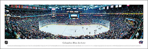 Columbus Blue Jackets Nationwide Arena NHL Game Night Panoramic Poster Print - Blakeway Worldwide