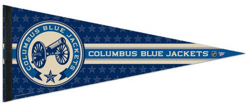 "Columbus Blue Jackets ""Cannon"" NHL Hockey Premium Felt Pennant - Wincraft"