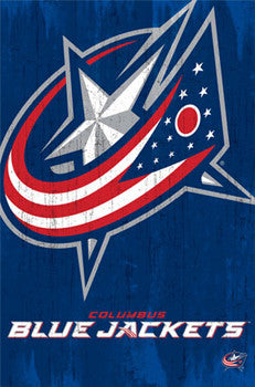 Columbus Blue Jackets Official NHL Team Logo Poster - Costacos Sports