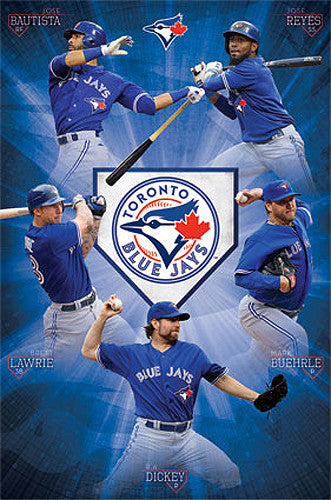 "Toronto Blue Jays ""Super Five"" (2013) MLB Baseball Action Poster - Costacos 2013"