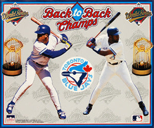 "Toronto Blue Jays ""Back-to-Back"" (1992-93) Commemorative Poster - Starline 16x20"