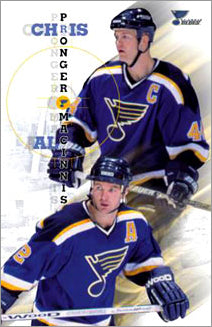 "Chris Pronger and Al MacInnis ""Norris Twins"" St. Louis Blues NHL Poster - Costacos 2000"