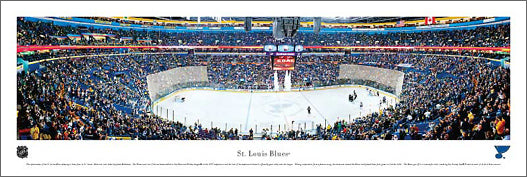 St. Louis Blues Scotttrade Center NHL Game Night Panoramic Poster - Blakeway Worldwide
