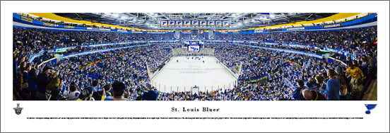 St. Louis Blues Scottrade Center 2013 Playoffs Panoramic Poster Print - Blakeway