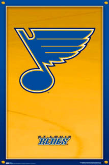 St. Louis Blues Official NHL Hockey Team Logo Poster - Costacos Sports 2007 - LAST ONE
