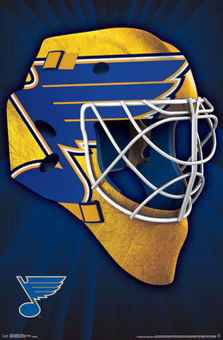 St. Louis Blues Official NHL Hockey Team Logo Mask-Style Poster - Trends International