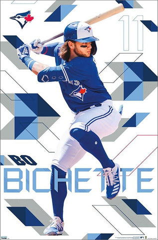 "Bo Bichette ""Blast"" Toronto Blue Jays MLB Baseball Action Poster - Trends 2020"