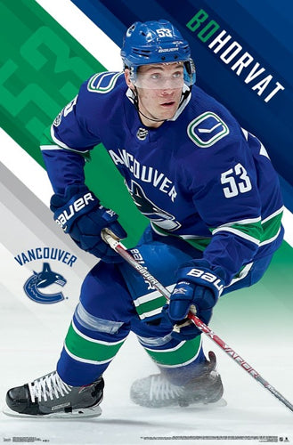 "Bo Horvat ""Superstar"" Vancouver Canucks NHL Action Poster - Trends International 2017-18"