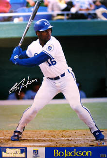 "Bo Jackson ""Slugger"" Kansas City Royals Poster - Marketcom Inc. 1989"