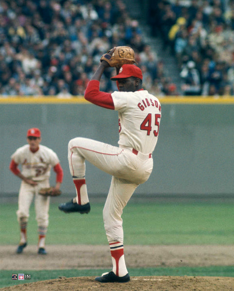 "Bob Gibson ""World Series Clutch"" (1968) St. Louis Cardinals Premium 16x20 MLB Baseball Poster Print- Highland Mint"
