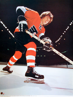 "Bobby Clarke ""Captain"" Philadelphia Flyers Vintage Original Poster - Sports Posters Inc. 1975"