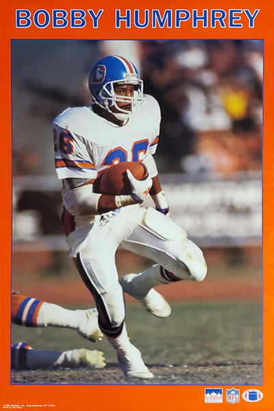 "Bobby Humphrey ""Action"" Denver Broncos NFL Action Poster - Starline Inc. 1990"
