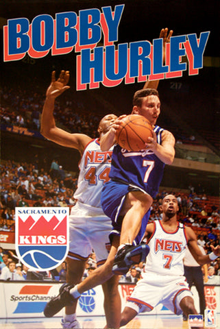 "Bobby Hurley ""King"" Sacramento Kings Vintage Original Poster - Starline 1994"