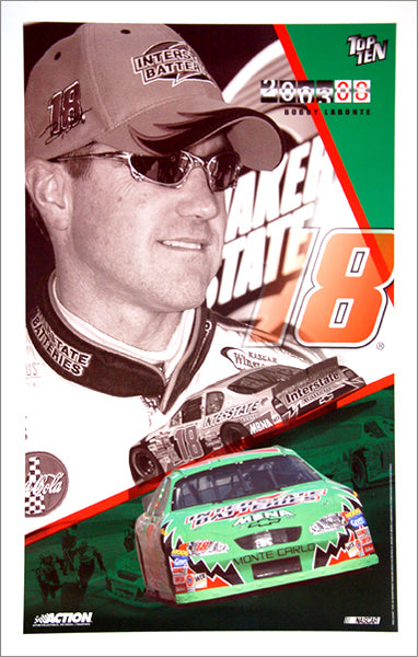 "Bobby Labonte ""Top Ten 2003"" #18 Chevy Monte Carlo NASCAR Racing Poster - Action Collectables"