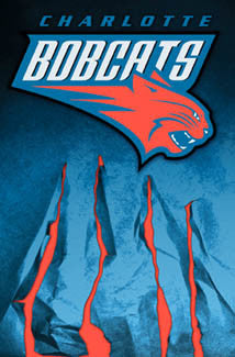 Charlotte Bobcats Debut Season Official Team Logo Wall Poster - Costacos 2004