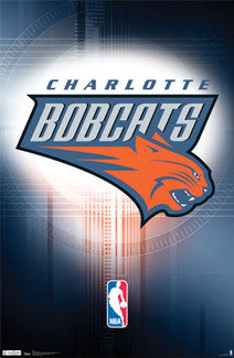 Charlotte Bobcats Official NBA Logo Poster - Costacos Sports