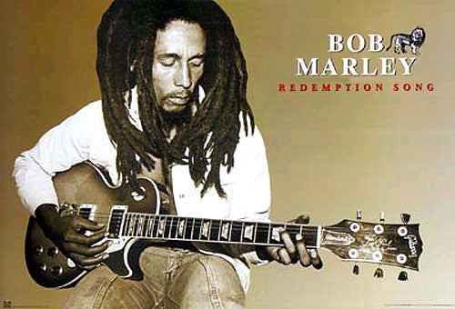"Bob Marley ""Redemption Song"" Guitar Reggae Music Poster - Import Images Inc."