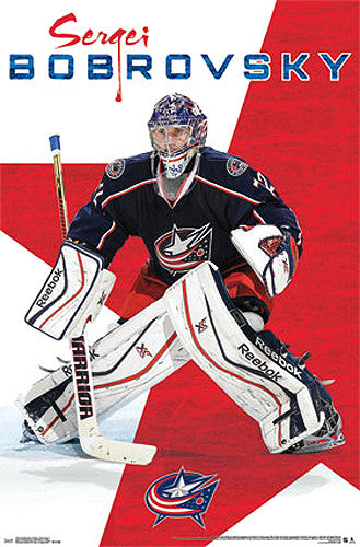 "Sergei Bobrovsky ""Stopper"" Columbus Blue Jackets NHL Poster - Costacos Sports"