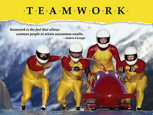 "Bobsleigh ""Teamwork"" Motivational Inspirational Poster - Jaguar Inc."