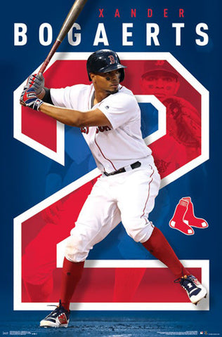 "Xander Bogaerts ""Superstar"" Boston Red Sox Official MLB Baseball Poster - Trends 2017"