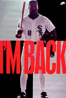 "Bo Jackson ""I'm Back"" Chicago White Sox Poster - Nike 1991"