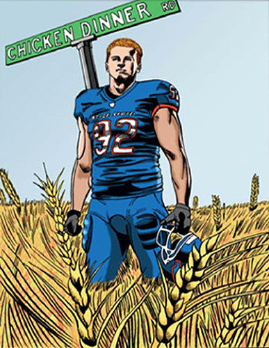 "Shea McClellin ""Chicken Dinner Rd."" Boise State Broncos Football Poster - Team Spirit"