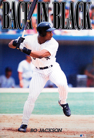 "Bo Jackson ""Back in Black"" Chicago White Sox Poster - Costacos 1991"