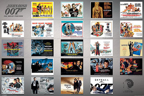 50 Years of James Bond Movie Posters Poster - Pyramid 2013