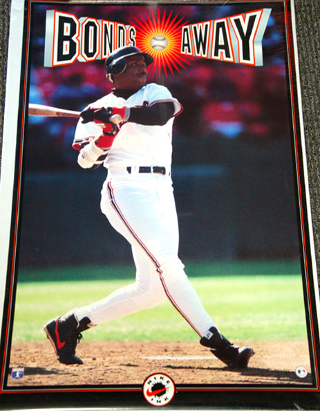 "Barry Bonds ""Bonds Away"" (1993) San Francisco Giants Vintage Poster - Nike Inc."