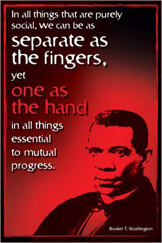 "Booker T Washington ""American Hero"" Historical Poster - Eurographics"