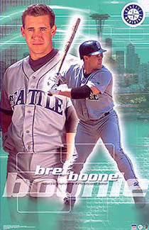 "Bret Boone ""Excellence"" Seattle Mariners Poster - Starline 2002"