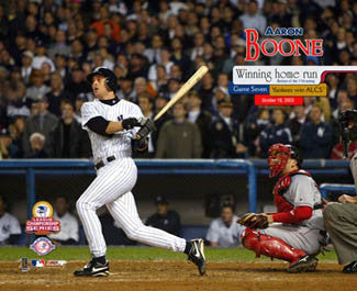 Aaron Boone New York Yankees 2003 ALCS Walk-Off Home Run Premium Poster Print - Photofile Inc.
