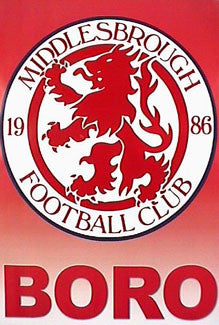 "Middlesbrough FC ""BORO"" Official Team Logo Poster"