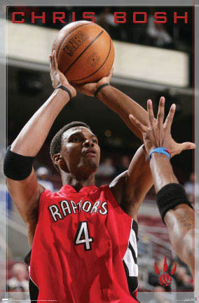 "Chris Bosh ""Jumper"" Toronto Raptors Poster - Costacos 2007"