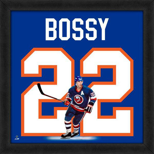 "Mike Bossy ""Number 22"" New York Islanders FRAMED 20x20 UNIFRAME PRINT - Photofile"